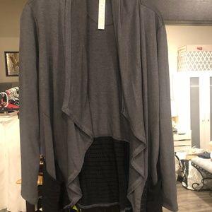 Balance Collection Gray & Black Yoga Jacket/Wrap M